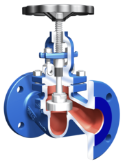 The medium pressure range stop valve STOBU